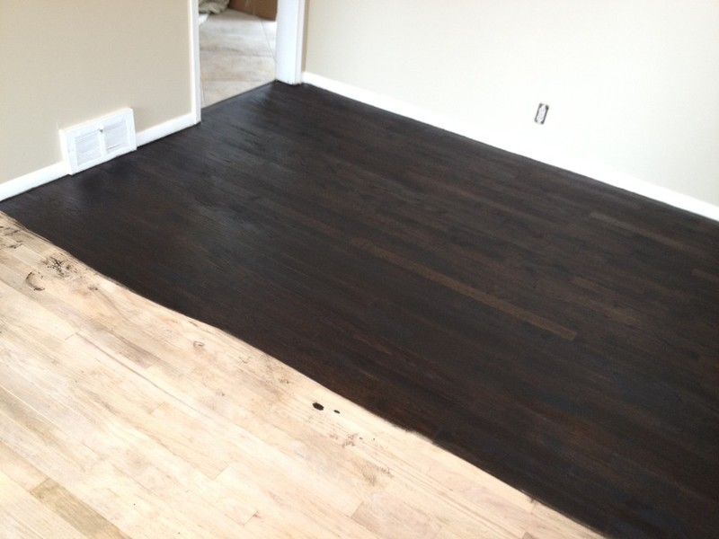 dark wood stain with Photo Gallery on House Renovation Week 12 Paint That Paneling People also Impressive Wood Finish Colors 4 Oak Vs Cherry Wood Furniture besides Wenge besides How To Gel Stain Oak Banisters further Black Ash V Groove Laminate Flooring.